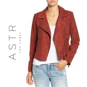 ASTR Faux Suede Moto Jacket